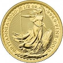 1/2 troy ounce gold coin Britannia 2020