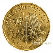 1/2 troy ounce gold Vienna Philharmonic