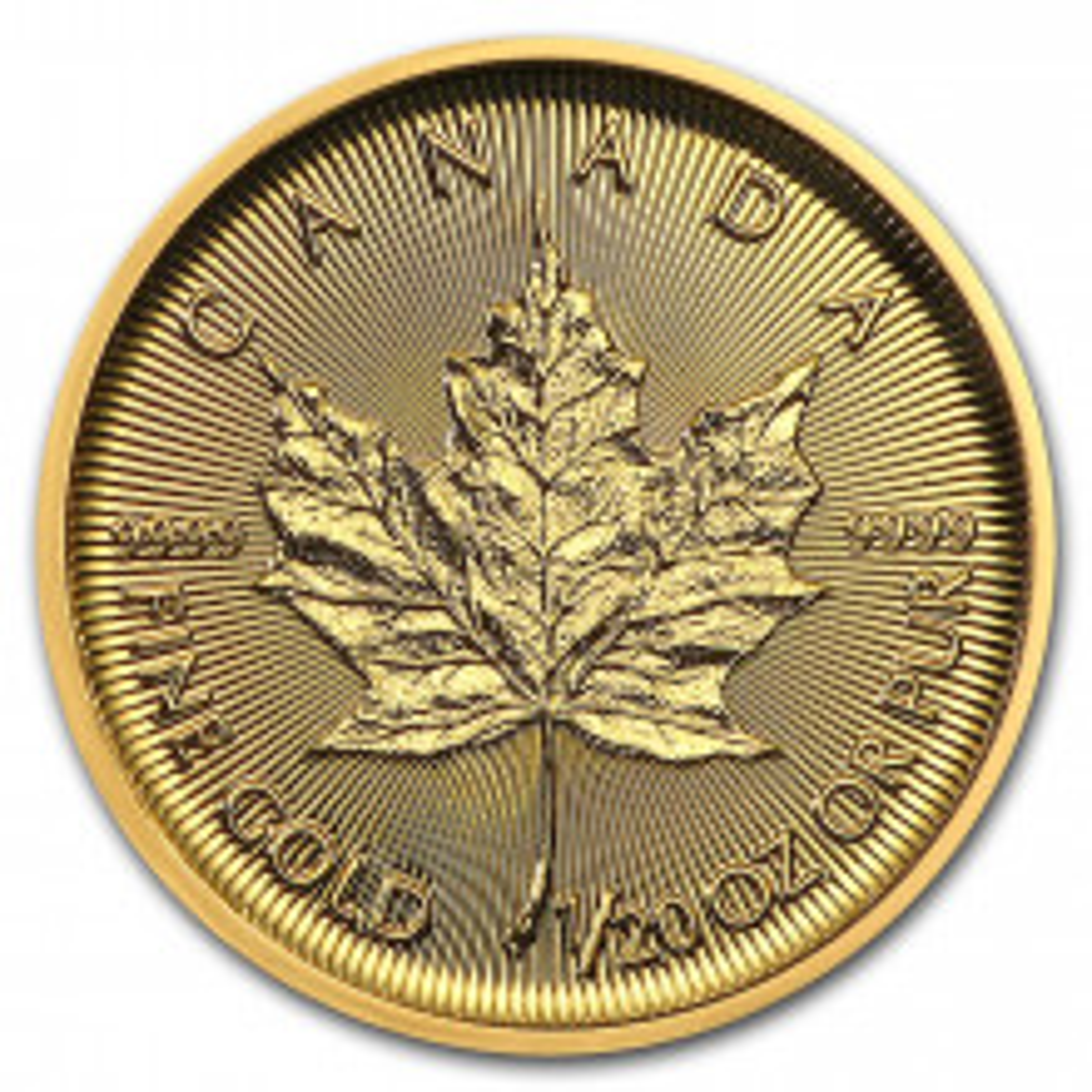 Gold 1/20 troy ounce Maple Leaf coin 2021
