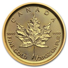 Gold 1/20 troy ounce Maple Leaf coin 2019