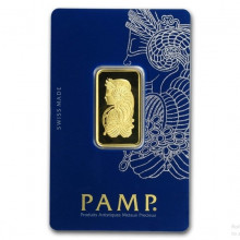 1/2 Troy ounce golden bar Pamp Suisse