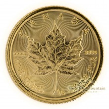 1/4 troy ounce gold Maple Leaf coin