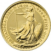 1/4 troy ounce gold coin Britannia 2020
