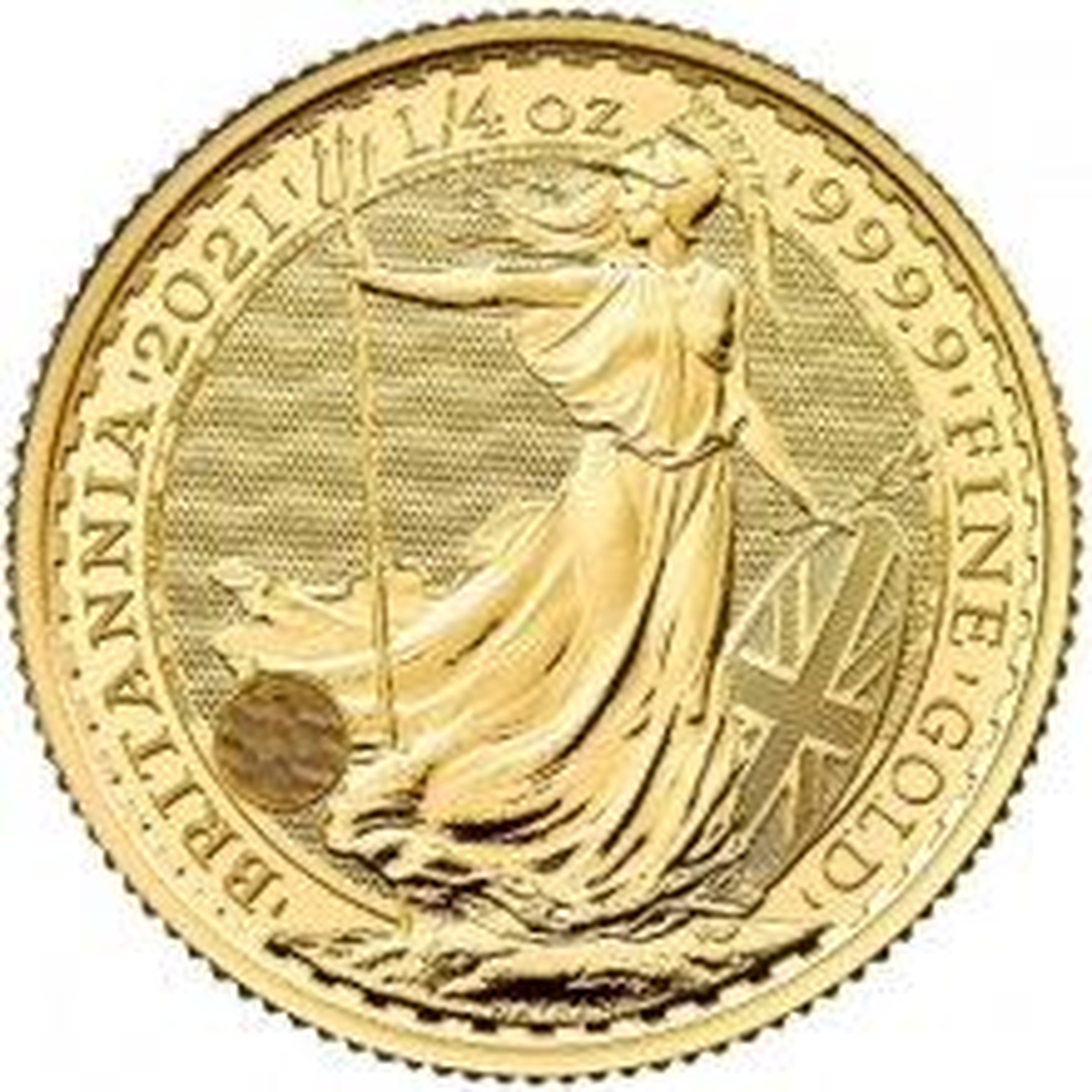 1/4 troy ounce gold coin Britannia 2021