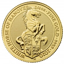 1/4 Troy ounce gold coin Queens Beasts White Horse 2020