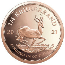1/4 Troy ounce gold coin Krugerrand 2021 proof