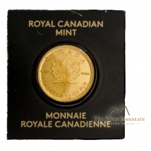 1 Gram gold Maple Leaf coins