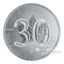 1 Troy ounce silver coin Maple Leaf 2018 - 30th anniversary