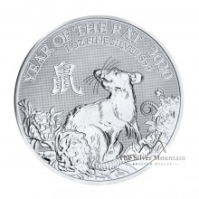 1 Troy ounce silver coin Lunar UK 2020