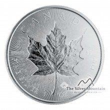 1 Troy ounce silver coin Incuse Maple Leaf 2018