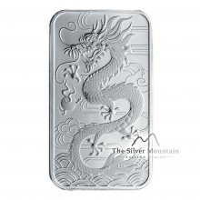 1 Troy ounce silver coin bar Rectagular Dragon 2018