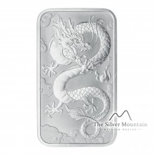 1 Troy ounce silver coin bar Rectangular Dragon 2019