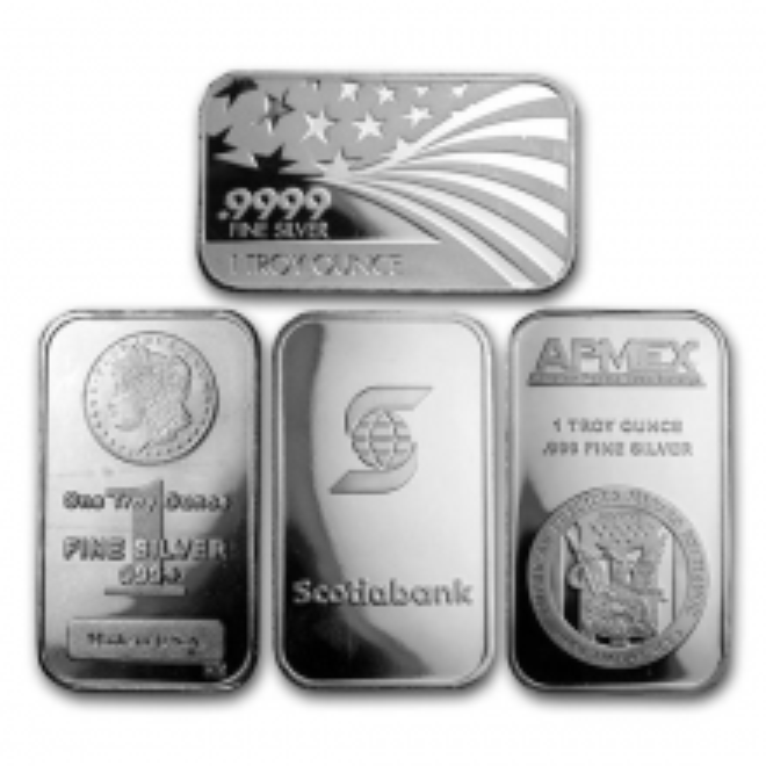1 troy ounce silver bar various producers