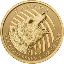 1 troy ounce gold coin Grizzly Bear 2016