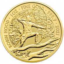 1 troy ounce gold coin Robin Hood 2021