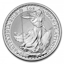 1 Troy ounce platinum coin Britannia