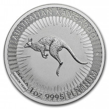 1 Troy ounce platinum Kangaroo coin