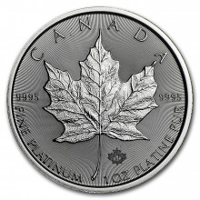 1 troy ounce platinum Maple Leaf coin 2021