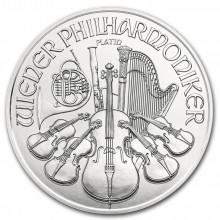1 troy ounce platinum Philharmonic coin 2021