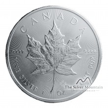 1 troy ounce silver coin Maple Leaf