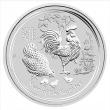 1 kilo silver Lunar coin 2017 - year of the rooster