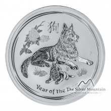 1 Troy ounce silver Lunar coin 2018 - year of the dog