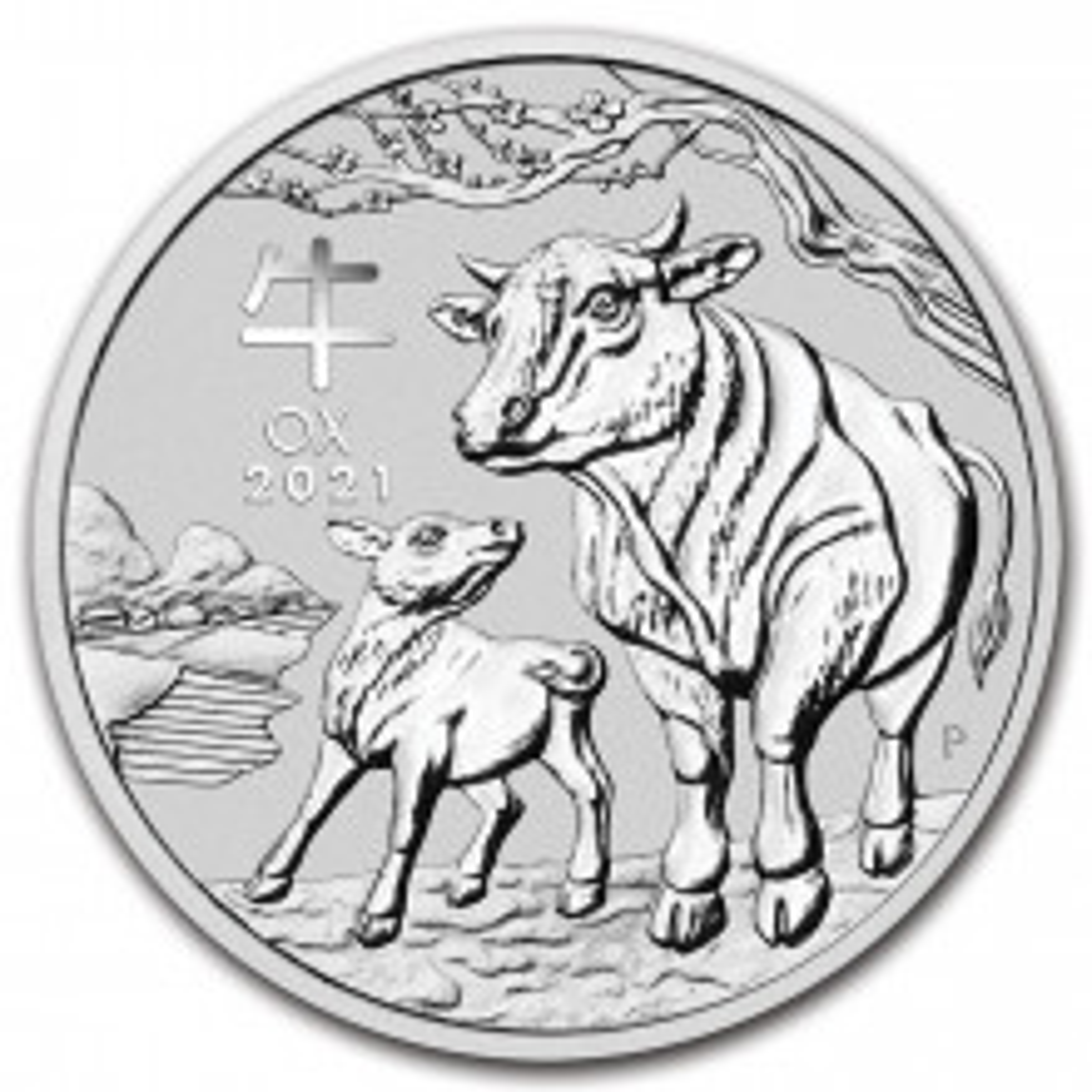 1 troy ounce silver coin Lunar 2021