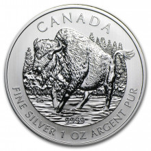 1 Troy ounce silver coin Bison 2013 - Canada Wildlife series