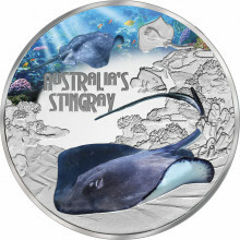 1 troy ounce silver coin Stingray 2021 Proof