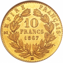 Gold coin 10 Frank