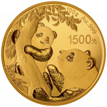 100 Grams gold coin Panda 2021 Proof