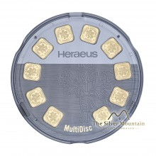 10x 1 gram goldbars from Heraues - Multidisk