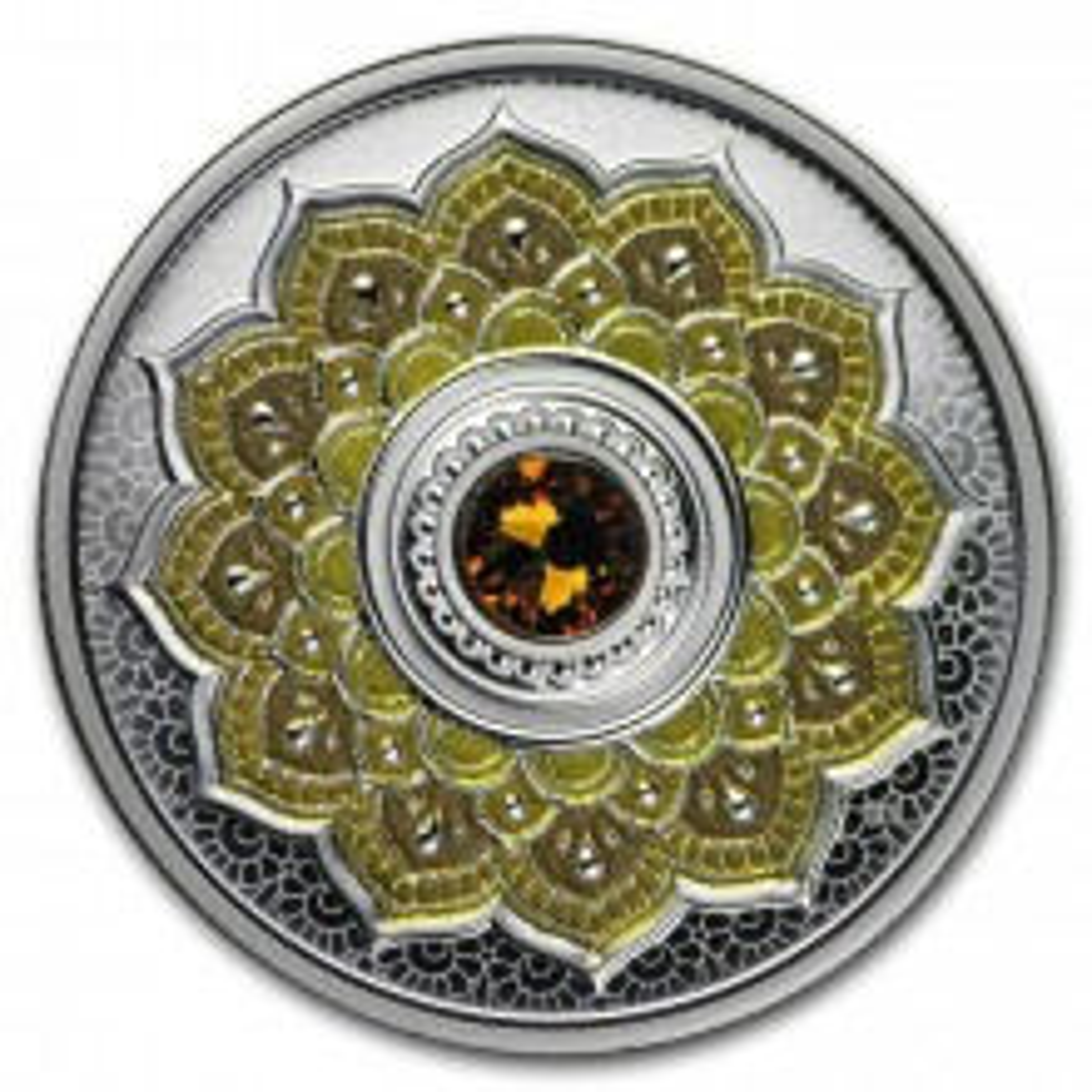 Silver coin November Birthstone Swarovski 2018