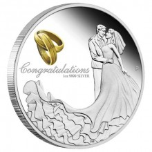 Original wedding gift: 1 Troy ounce silver coin 2020