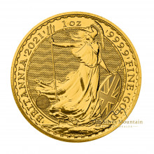 1 troy ounce golden coin Britannia 2021