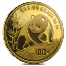 1 troy ounce gold Panda coin 1990