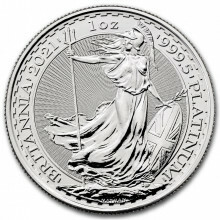 1 troy ounce platinum coin Britannia 2021
