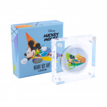 1 troy ounce silver coin Disney Mickey Mouse - ready set go proof 2020