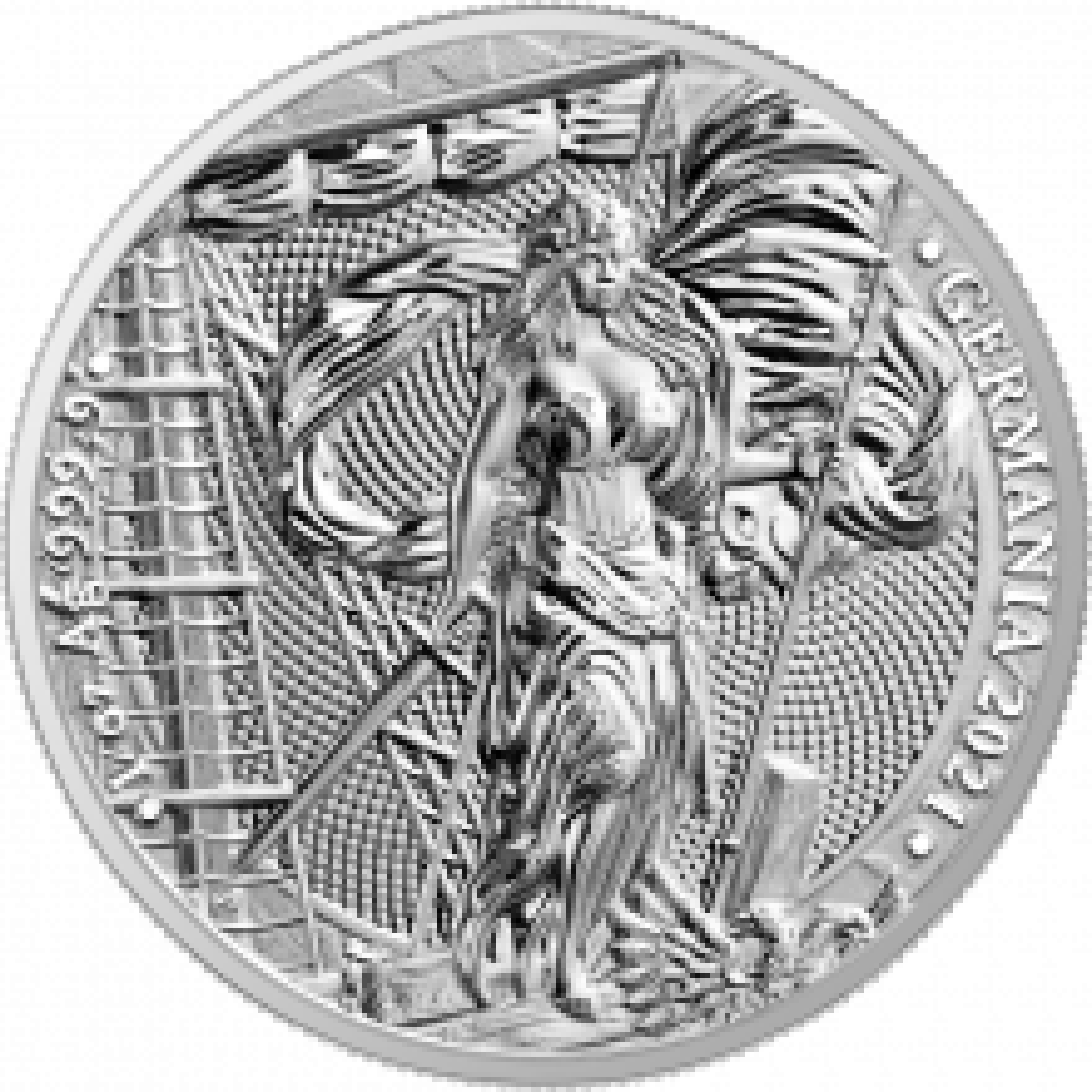1 Troy ounce silver coin Germania 2021