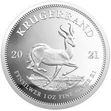 1 Troy ounce silver coin Krugerrand 2021 Proof