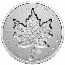 1 troy ounce silver coin Super incuse Maple Leaf 2021