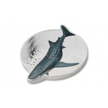 1 troy ounce silver coin whale shark 2021 prooflike