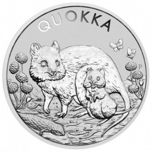 1 troy ounce silver coin Quokka 2021