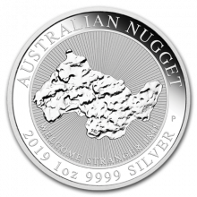 1 Troy ounce silver coin Nugget - Welcome Stranger 2019
