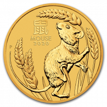 1/4 Troy ounce gold coin Lunar 2020