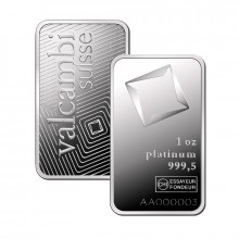 1 Troy ounce platinum bar Valcambi VAT free (storage in Switzerland)