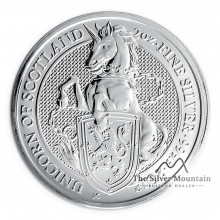 2 Troy ounce silver coin Queens Beast 2018 Unicorn