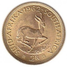 2 Rand gold coin South Africa