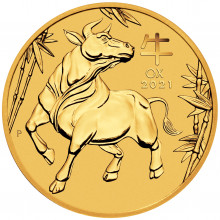 2 Troy ounce gold coin Lunar 2021