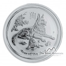 2 Troy ounce silver Lunar coin 2018 - year of the dog